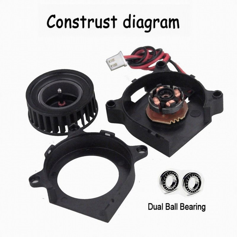 Gdstime 2 Pieces 3D Pinter Dual Ball Bearing Blower Fan 12V 40mm x 20mm 4020 1 57 inch 4cm DC Turbo Cooler in Fans Cooling from Computer Office