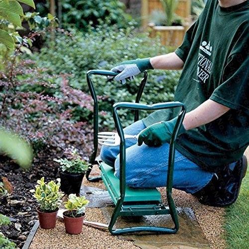 DHL Free ! Garden Kneeler with Handles Folding Stainless Steel Garden Stool with EVA Kneeling Pad Gardening цена