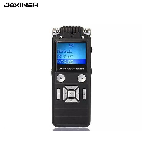 8GB Digital Voice Recorder Dictaphone Large Black Professional Business Portable Dual-core USB Audio Recorder Of MP3/WAV 8gb 650hr usb жк экран digital audio voice recorder диктофон mp3 плеер