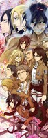 Attack On Titan Anime Characters 51*18CM Wall Scroll Poster #36576