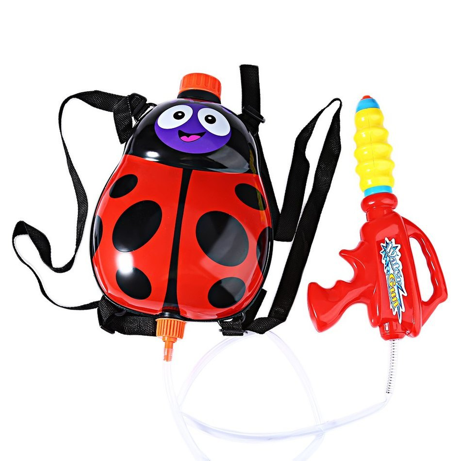 2018 Kids Cute Ladybird Outdoor Super Soaker Blaster Backpack Pressure  Squirt Pool Toy Fun Sports Summer Swimming Pool Battle 097079fbe03