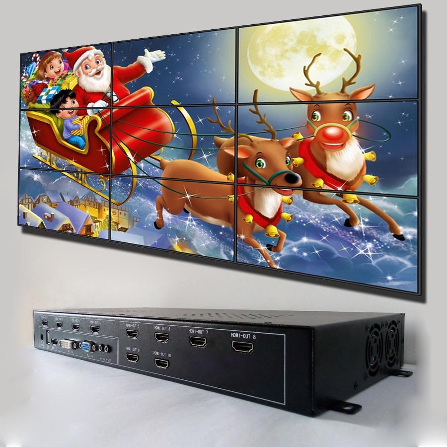 DIY 3x3 hdmi tv contrôleur de mur vidéo