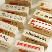 Beautiful Diary Decoration DIY Stamp Vintage Wood Rubber Stamp Blocks Scrapbooking Office Stationery 20pcs SK778