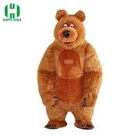 Новое поступление Надувной медведь м 2,6 костюм для рекламы настроить Маша и Медведь Надувные маскоты Хэллоуин взрослых