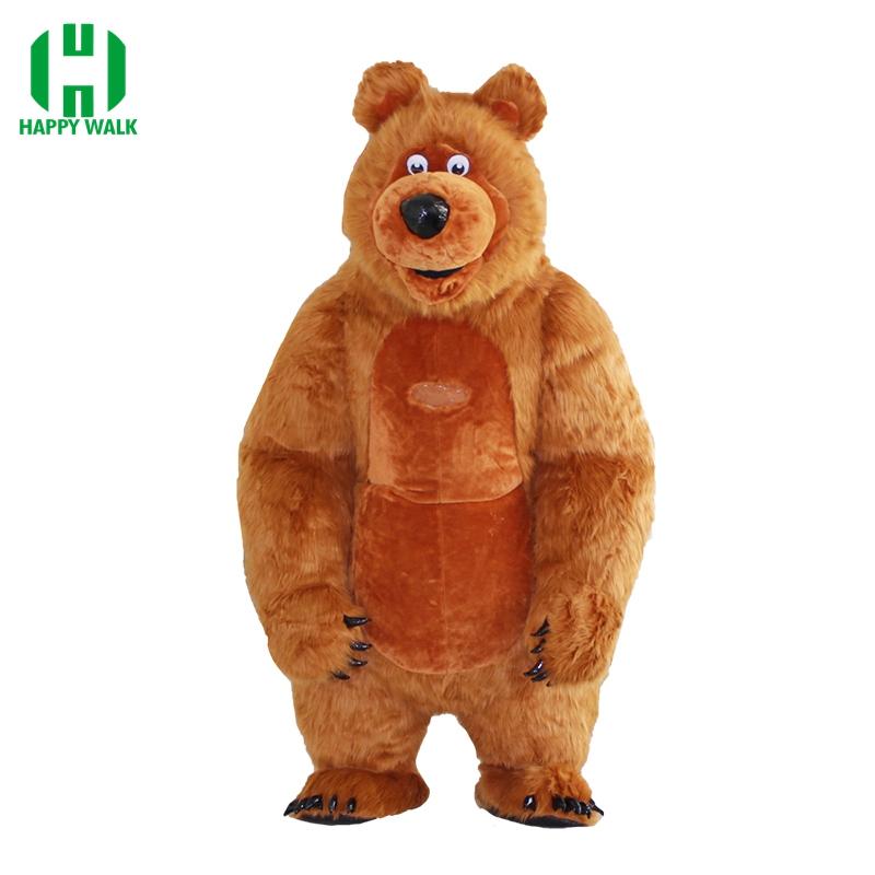 New Arrival 2.6M Inflatable Bear Costume For Advertising Customize Masha And Bear Inflatable Mascot Halloween Costume For Adult