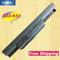 HSW 6cell K53u Аккумулятор для ноутбука asus A32 K53 A42-K53 A31-K53 A43 A53 K43 K53 K53S X43 X44 X53 X54 X84 X53SV X53U X53B