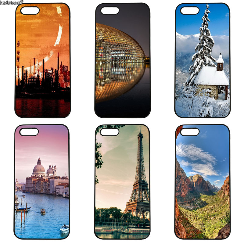 Beautiful Scenery of Nature Phone Cases Hard PC Plastic Cover for iphone 8 7 6 6S Plus X 5S 5C 5 SE 4 4S iPod Touch 4 5 6 Shell