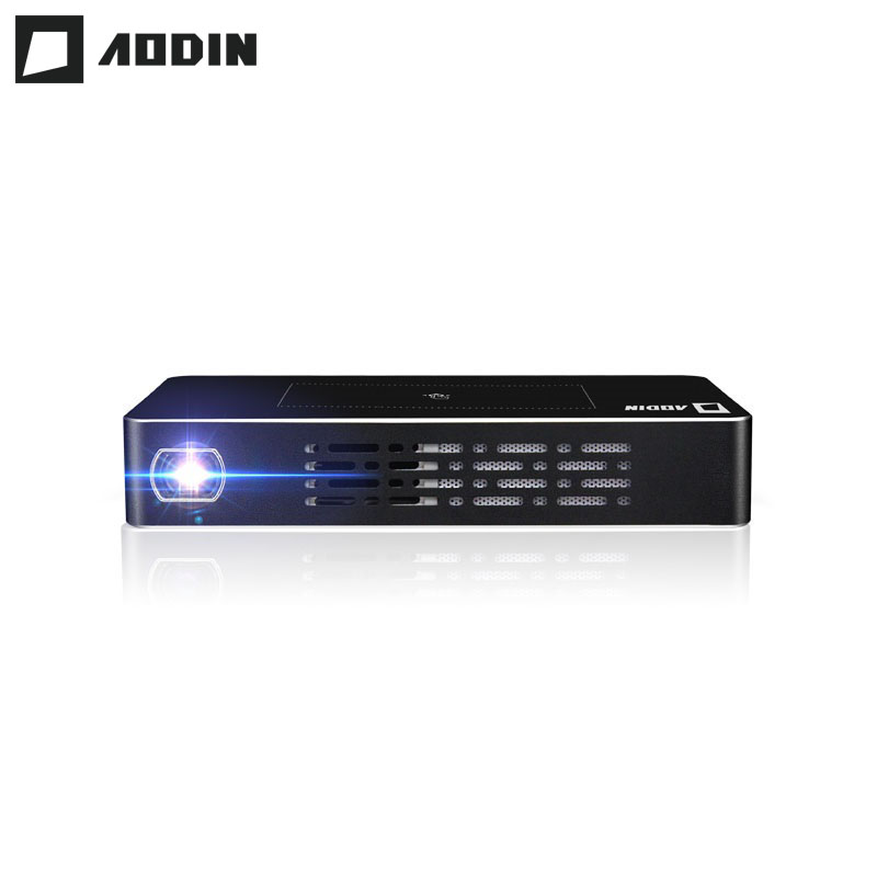 Aodin m9 dlp mini projector led smart multi touch 1 32g for Smart pocket projector