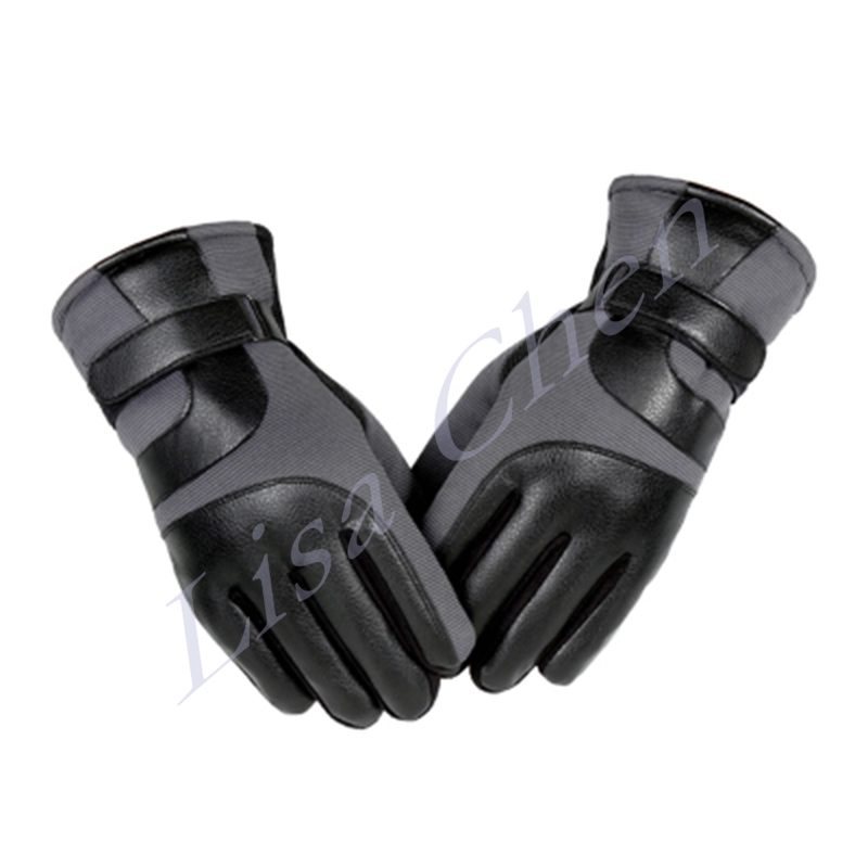 Men's Winter Cycling Gloves Thick Warm Windproof Ski Gloves Motorcycle Riding Cold Winter Plus Velvet