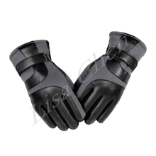 Men s winter cycling gloves thick warm windproof ski gloves motorcycle riding cold winter plus velvet
