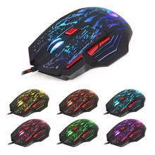 5500 DPI 7 Button Keys LED Optical USB Wired Gaming Mouse Mice For Pro Gamer Hot