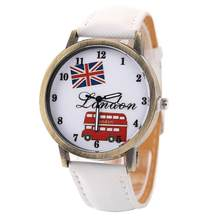 Women Britain Flag London Bus Round Dial Casual, Office Casual 3.5cm/1.37inch Canvas Band Quartz Wrist Watch(China)