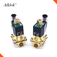 2W 25K 12VDC brass water normally open 1 inch solenoid valve