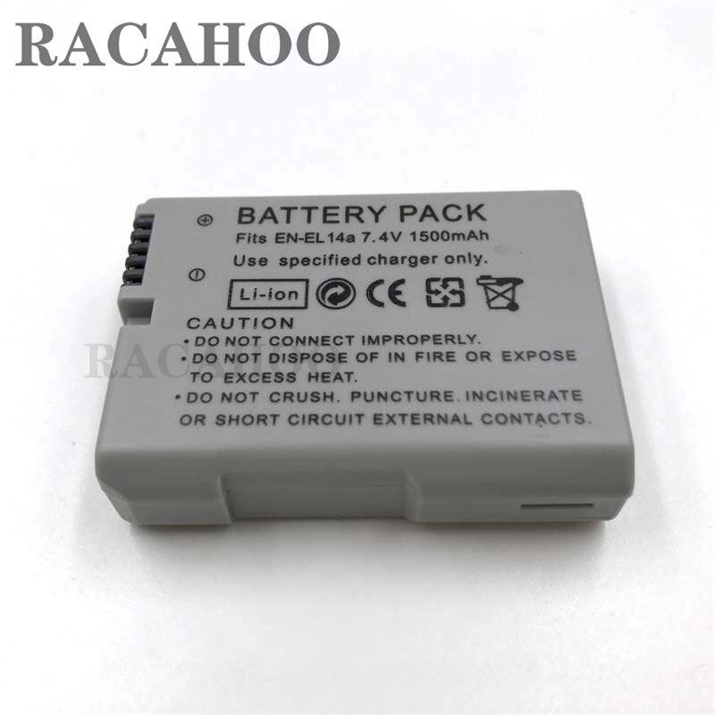 Bateria para Nikon En-el14a 1500 MAH En-el14 Enel14 El14 D3200 D3300 D5300 D5200 D5100 D3100 P7800 P7700 P7100 P7000