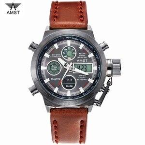 Image 2 - Orologi da polso militari sportivi di moda maschile 2020 nuovi orologi AMST orologi da uomo di lusso di marca 5ATM 50m orologi al quarzo analogici digitali a LED da immersione