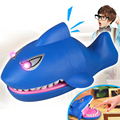 Funny Electronic Shark Mouth Dentist Toys with Lighting and Sounds Bite Finger Fun Party Games Toys Play With Kids Special Gifts