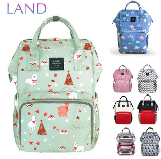 LAND Nappy Bags 2018 Baby Bags Large Diaper Bag Backpack Organizer Maternity Bags For Mother Handbag Baby Nappy Backpack