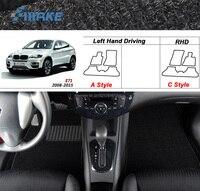 smRKE For BMW X6 2008 2015 Car Floor Mats Carpets Customized Antiskid Hydrophil Fiber Front & Rear Full Set LHD RHD