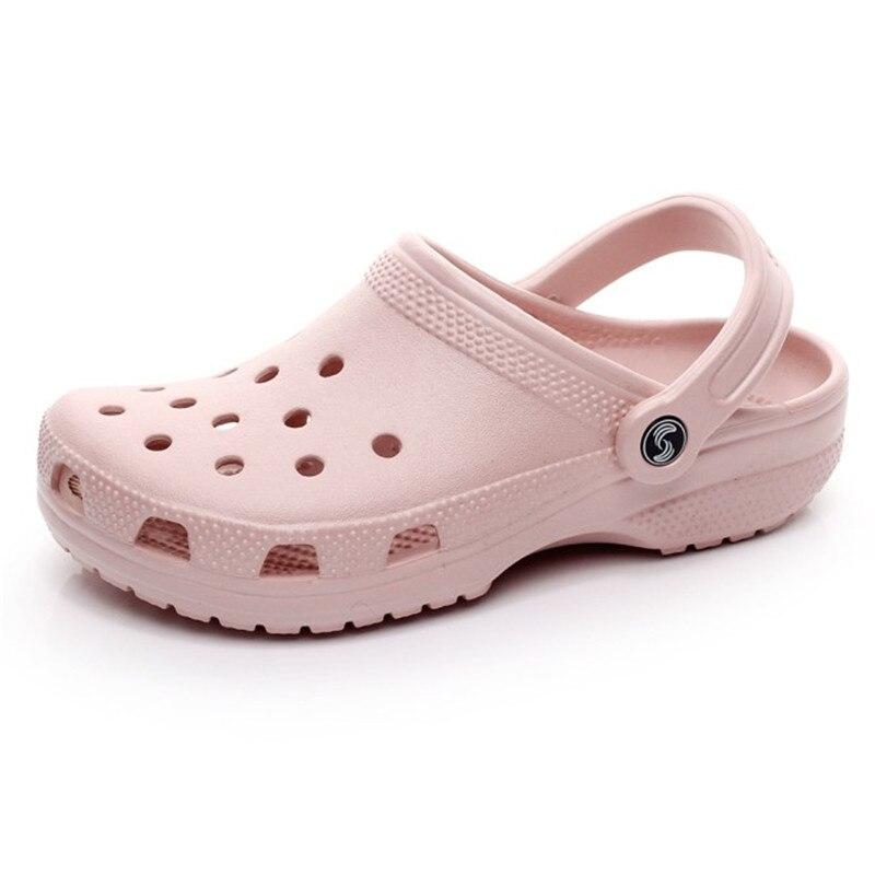 ec5dd1786d14de Detail Feedback Questions about Couple Hole Clogs women Beach Slippers 2018  Summer Eva Sandals Beach Shoes Mules Flip Flops Garden Fashion Breathable  Hot ...