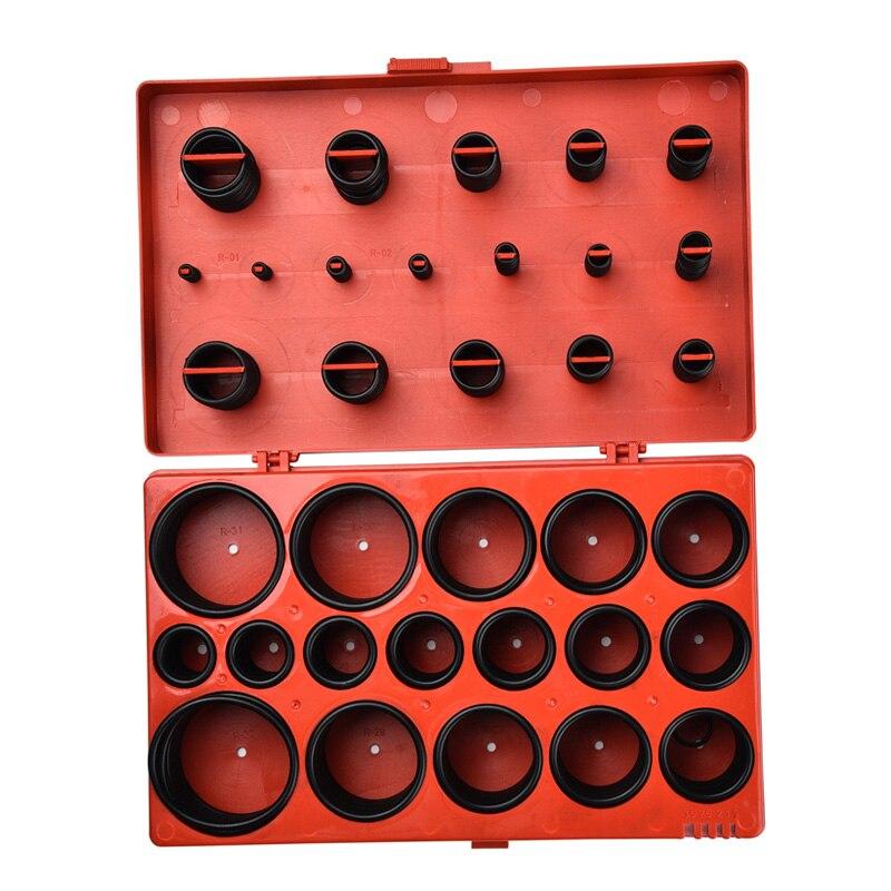 419 piezas Universal anillo O métrica lavadora juntas de estanqueidad Kit de surtido para mecánica automotriz O-Anillo de junta de silicona
