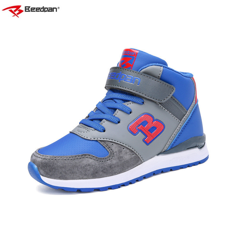 Beedpan Brand Winter Kids Boys Sport Shoes Autumn Children Shoes Boys And Girls Leather Shoes Fashion Casual High Top Sneakers tipsietoes brand high quality star sheepskin leather kids children sneakers shoes for boys and girls 2016 summer autumn a23001 page 9