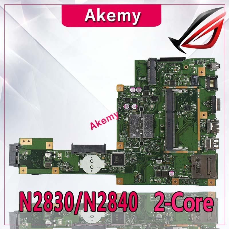 Carte mère d'ordinateur portable Akemy X553MA pour ASUS X553MA X553M A553MA D553M F553MA K553M Test carte mère d'origine N2830/N2840 CPU 2 cœurs