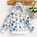 high quality baby girl jacket  cotton  100 with cute print pattern C01