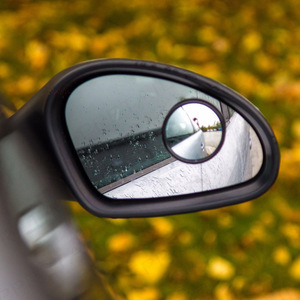Image 3 - 1 Pair Round Blind Spot Wide Angled Mirror With Adhesive Car Wing Safety HD Rearview Mirrors VS998