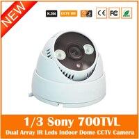 Webcams 1 3 SONY Effio E CCD 700TVL Indoor CCTV Camera Dual Array IR LED Home