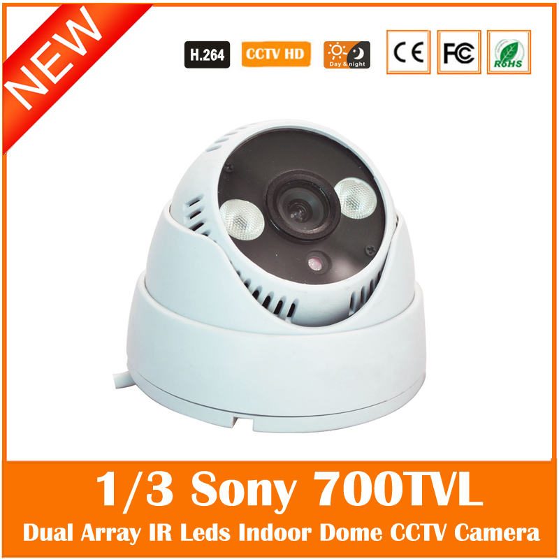 Ccd 700tvl Mini Dome Camera Indoor Infrared Night Vision Surveillance Security White Cctv Plastic Webcam Freeshipping Hot Sale mini bullet cvbs ccd camera 700tvl with headset mount for mobile surveillance security video 5v