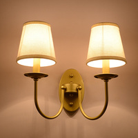 Modern Bedside Lamp Wall Light Minimalist Fabric Shade Wall Sconces Lighting Fixture For Balcony Aisle Hallway Wall Lamp WL214