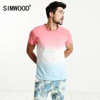 SIMWOOD 2017 New Summer T Shirt Men 100 Pure Cotton Natural Short Sleeve Slim Fit Funny