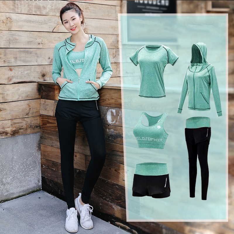 Tracksuit Sportwear Fitness-Clothes Yoga-Set Sports-Outfit Workout Outdoor Female Women