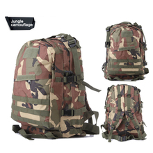 De Múltiples funciones Táctico de nylon mochila 40L Impermeable para hombre de camuflaje al aire libre bolsa de deporte mochila de camping bolso táctico de molle 600D