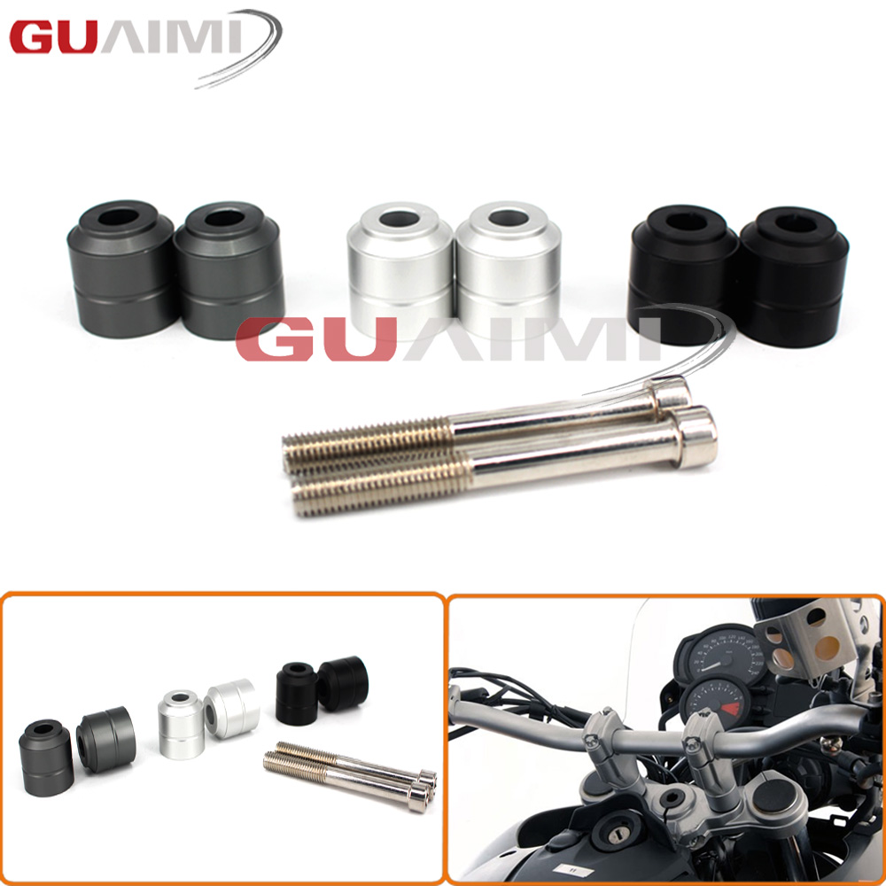Handlebar Riser kit moves bar For BMW F650GS Twin, F700GS, F800GS