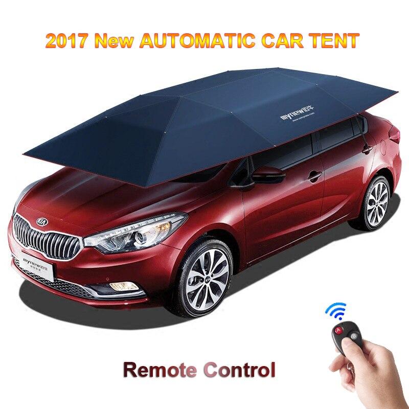 2017 nouvelle tente de voiture automatique avec télécommande Anti-UV coupe-vent abri solaire parapluie auvent tente pour voiture DHL livraison gratuite