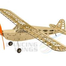 DW Hobby RC Airplane T08 J3 Balsa Wood Model Aircraft 4CH El