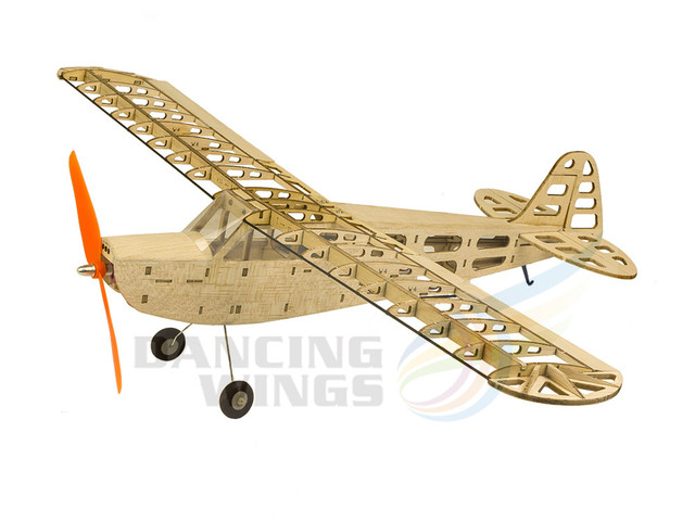 US $49 9  DW Hobby RC Airplane T08 J3 Balsa Wood Model Aircraft 4CH  Electric Glider Toy 600mm Laser cut RC Plane Kit for Adults-in RC Airplanes  from