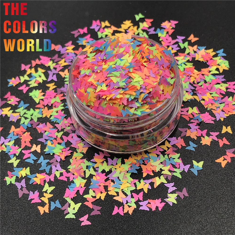 TCT-303 Butterfly Shape Nail Glitter Nail Art Decoration Makeup Festival Tumblers DIY Decoration Craft Accessory Party Supplies