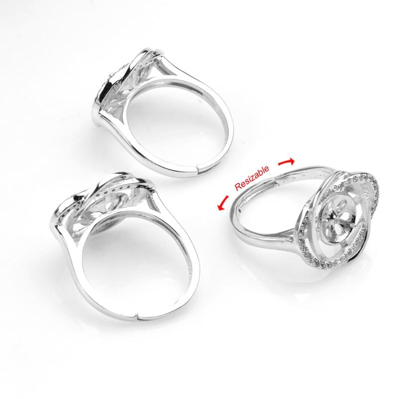3 Stück 925 Sterling Silber Edelsteinbesetzte Perle - Edlen Schmuck - Foto 2