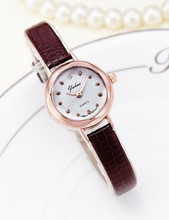 цены New 2016 Bracelet watches Women Luxury Brand PU Leather Quartz Watch For Women Casual Dress Wristwatches relogio feminino JW3689