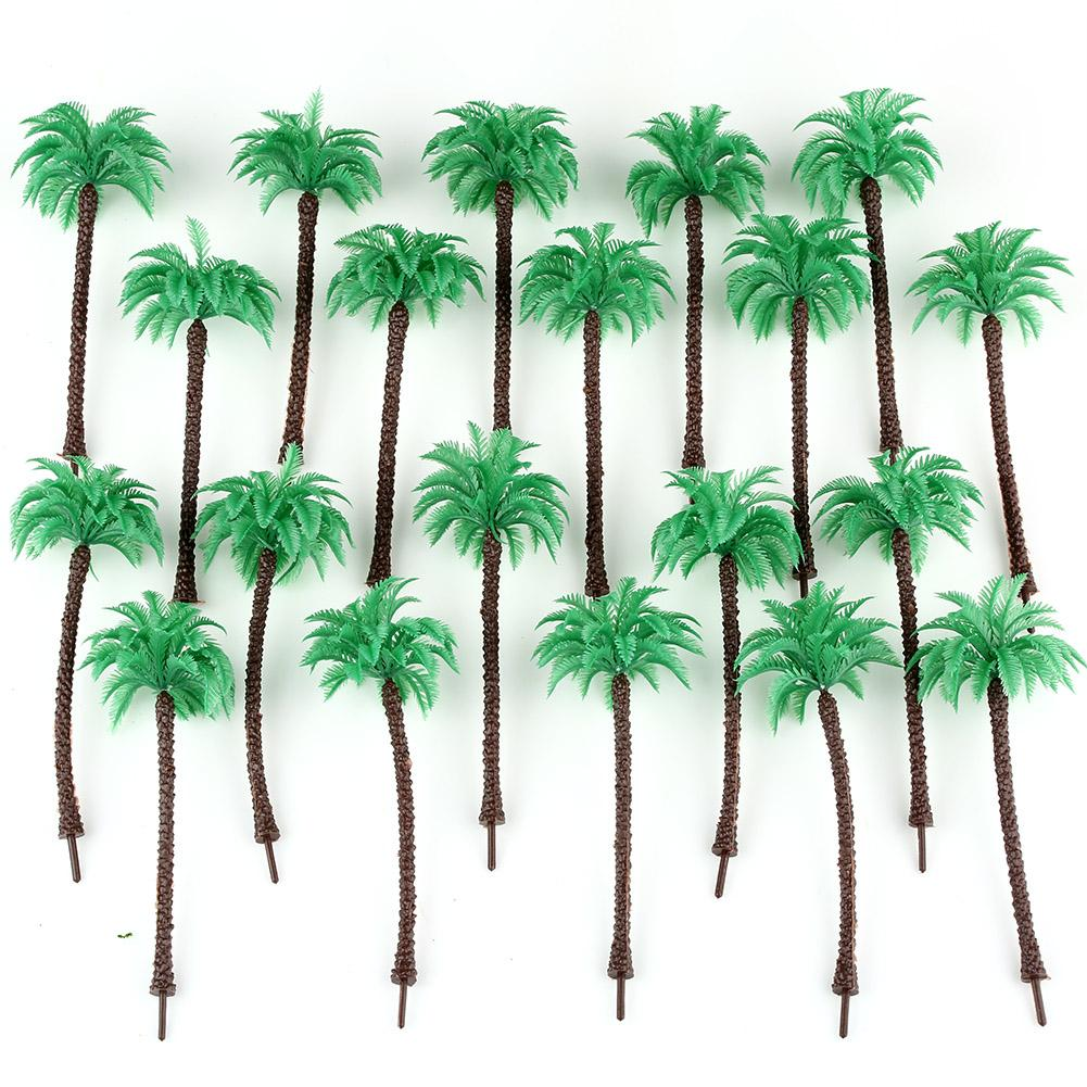 Hot 20pcs Layout Model Train Coconut Palm Trees Forest Scale HO 13CM