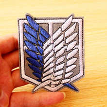 Japan Cartoon Patch DIY Hook Loop Anime/Embroidered Patches For Clothing Anime Sew/Iron On Clothes Stripe