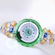 Top Luxury Melissa Lady Women's Watch Elegant Rhinestone Fashion Hours Dress Bracelet Full Crystal Clock Girl Birthday Gift Box