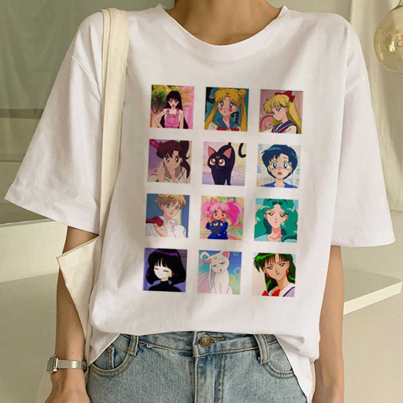 2019 Kasual Harajuku Tshirt Atasan Wanita T Kemeja Lengan Pendek Tee untuk Anak Perempuan Flamingo Bunga T Shirt Wanita Musim Panas Tee