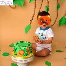 FENGRISE 12pcs EVA Foam Animal Masks Face Zoo Jungle Party Mask Birthday Decorations Kids Baby Shower Safari Decor