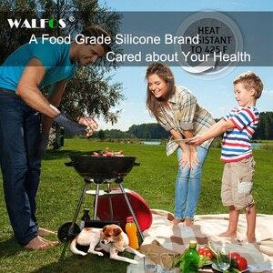 Image 5 - Walfos 1 Stuk Food Grade Hittebestendige Siliconen Keuken Barbecue Oven Handschoen Koken Bbq Grill Handschoen Oven Mitt Bakken Handschoen