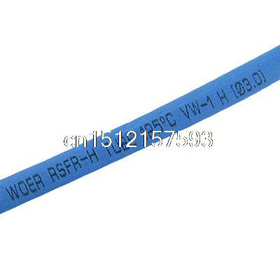 Blue Polyolefin 3.0mm x 200 Meters Heat Shrink Tubes 2:1 blue polyolefin 3 0mm x 200 meters heat shrink tubes 2 1