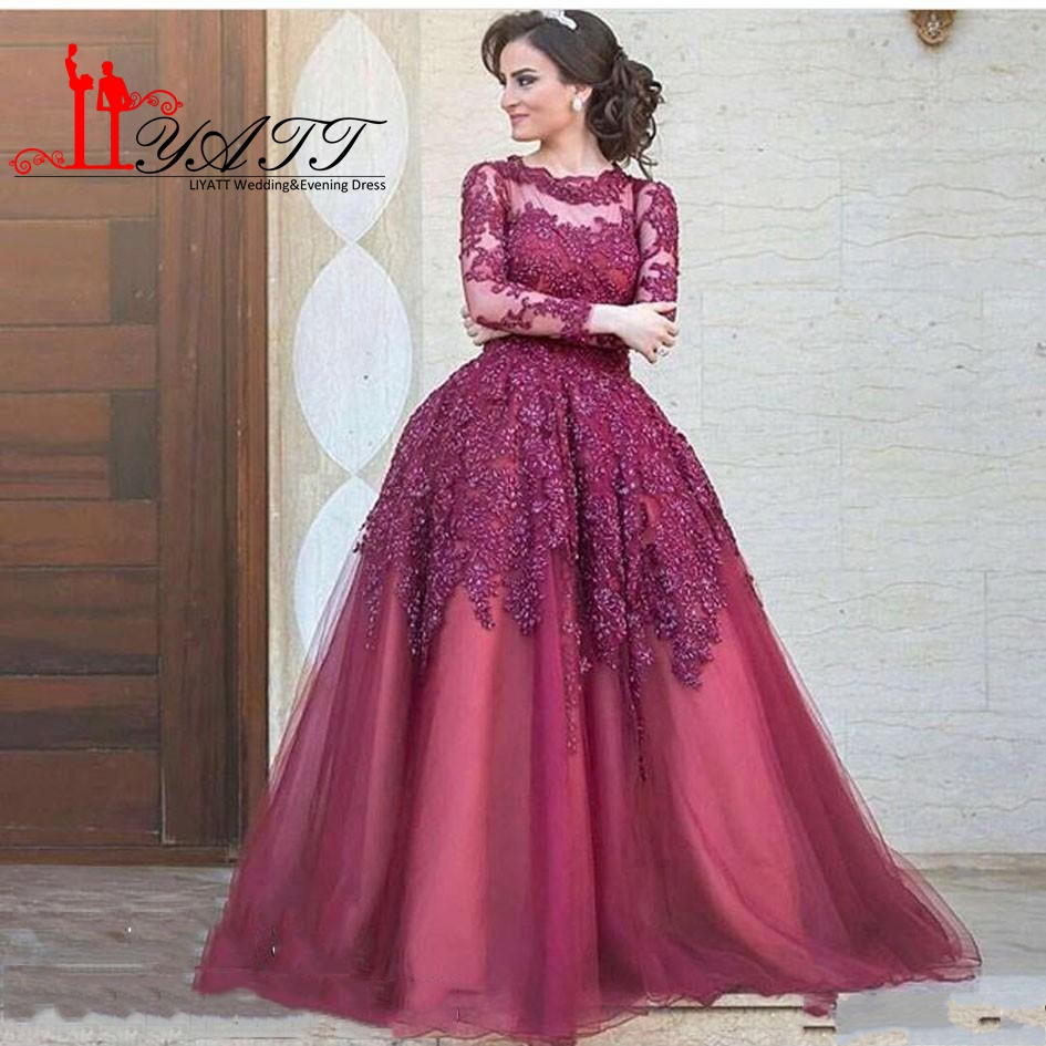 Popular Long Formal Dress Burgundy with Lace-Buy Cheap Long Formal ...