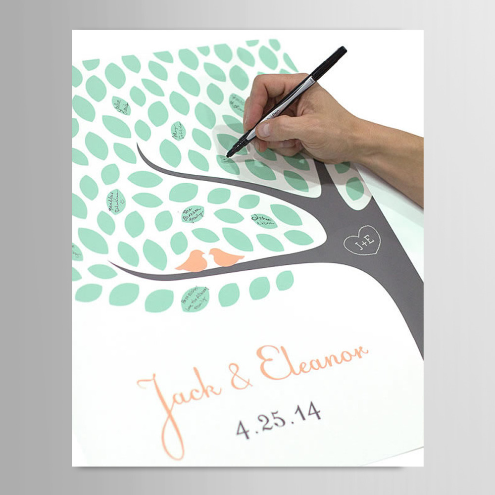 Popular Guest Signature Party Gift Wedding Canvas Signing Board Canvas  FD18